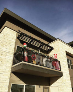 Exterior Upward Patio View | Catalina West Apartment Homes in Lubbock, Texas
